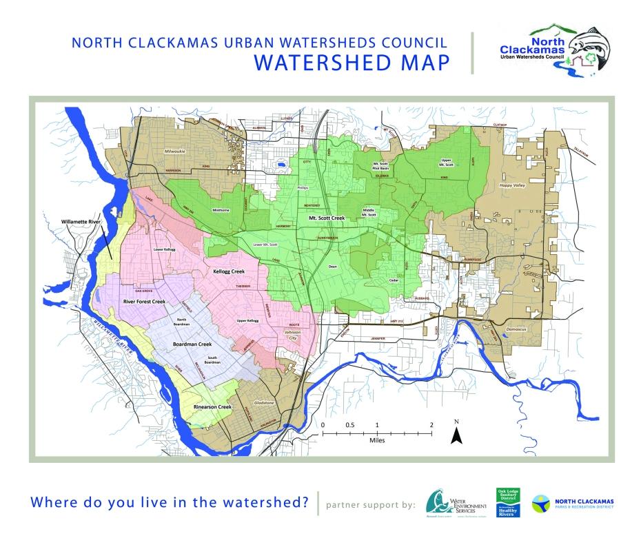 NCUWC Watershed Map